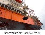 offshore oil rig drilling... | Shutterstock . vector #540237901