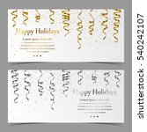 vector cards with silver and...   Shutterstock .eps vector #540242107