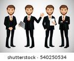 elegant people businessman | Shutterstock .eps vector #540250534