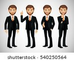elegant people businessman | Shutterstock .eps vector #540250564