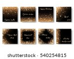 set of backgrounds with light... | Shutterstock .eps vector #540254815