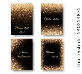 set of backgrounds with golden... | Shutterstock .eps vector #540254875