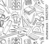 school  pattern. seamless... | Shutterstock . vector #540257527