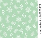 white star and white snowflake... | Shutterstock . vector #540265171