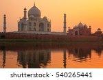 Taj Mahal Reflected In Yamuna...