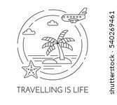 traveling banner with outline... | Shutterstock .eps vector #540269461