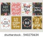 set of christmas greeting card  ... | Shutterstock .eps vector #540270634