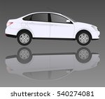 white car and the reflection on ... | Shutterstock .eps vector #540274081
