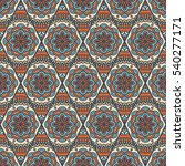 ethnic floral seamless pattern. ... | Shutterstock . vector #540277171