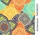 ethnic floral seamless pattern. ... | Shutterstock . vector #540280201
