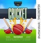vector cricket poster event... | Shutterstock .eps vector #540280954