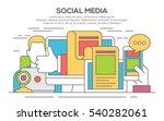 vector illustration of  social... | Shutterstock .eps vector #540282061