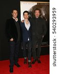 """Small photo of NEW YORK-DEC 13: (L-R) Bill Collage, Mike Lesslie and Adam Cooper attend the screening of """"Assassin's Creed"""" at AMC Empire on December 13, 2016 in New York City."""