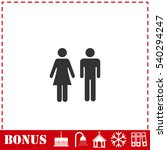 man and woman icon flat. simple ... | Shutterstock .eps vector #540294247