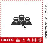 bandit group icon flat. simple... | Shutterstock .eps vector #540298744