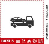 tow car evacuation icon flat.... | Shutterstock .eps vector #540300385