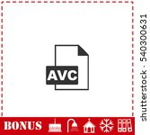 avc icon flat. simple vector...