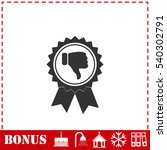 not recommended award icon flat.... | Shutterstock .eps vector #540302791