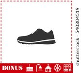 sneakers icon flat. simple...