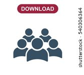 people icon vector flat design... | Shutterstock .eps vector #540306364