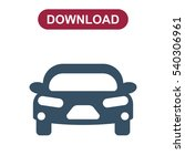 car icon vector flat design...