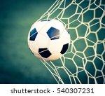 soccer ball in goal net   retro ... | Shutterstock . vector #540307231