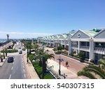 road near rock beach with blue... | Shutterstock . vector #540307315