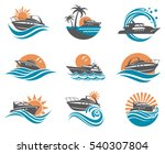 collection of speedboat and... | Shutterstock .eps vector #540307804