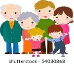 happy family   Shutterstock .eps vector #54030868