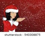 wow  happy girl in costume...   Shutterstock . vector #540308875