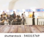 perspective wood and blurred... | Shutterstock . vector #540315769