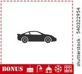 Sport Car Icon Flat. Simple...