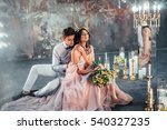 beautiful couple bride and... | Shutterstock . vector #540327235