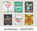 set of christmas sale card ...   Shutterstock .eps vector #540327895