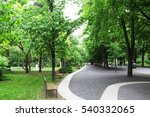 spring beautiful park with a... | Shutterstock . vector #540332065