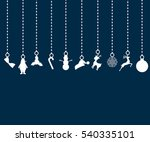 christmas decorations of paper. ... | Shutterstock .eps vector #540335101