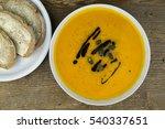 bowl of delicious autumn... | Shutterstock . vector #540337651