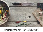 cooking meat background. knife  ... | Shutterstock . vector #540339781