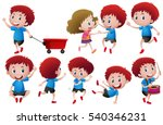 boys in different actions... | Shutterstock .eps vector #540346231