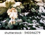christmas background silver... | Shutterstock . vector #540346279