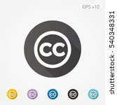 colored icon of cc symbol with... | Shutterstock .eps vector #540348331