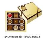 valentine gift box | Shutterstock .eps vector #540350515