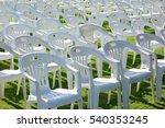 vacant empty plastic white... | Shutterstock . vector #540353245