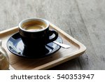 cup of espresso coffee on... | Shutterstock . vector #540353947