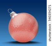 3d illustration of red... | Shutterstock . vector #540354271