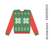 ugly christmas sweater with...   Shutterstock .eps vector #540355015