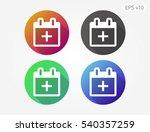 colored icon of calendar symbol ...