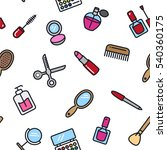 beauty salon cosmetic seamless...   Shutterstock .eps vector #540360175