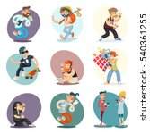 cartoon casual people hipster... | Shutterstock .eps vector #540361255