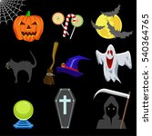 halloween icons set  | Shutterstock .eps vector #540364765
